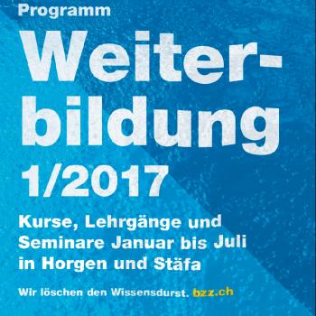Kursprogramm des ersten Halbjahrs 2017 am BZZ.