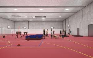 BZZ Erweiterungsbau 2016 Turnhalle