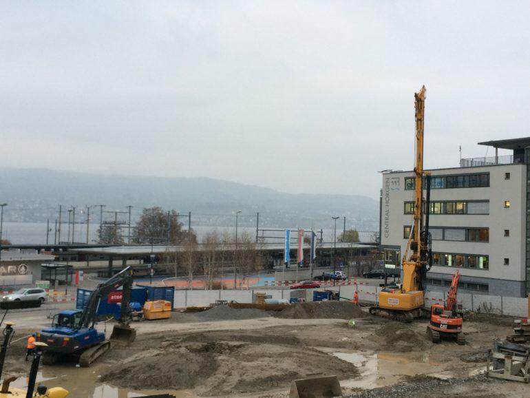Baustelle BZZ Drehbormaschinen